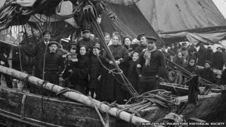 Refugees arriving at Folkestone