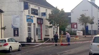 The pedestrian was hit by a white BMW X3 in Main Street in the village