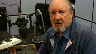 Steve Barker in his studio in Blackburn