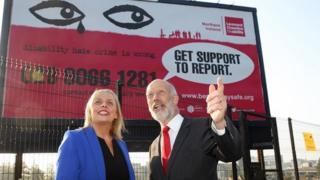 Justice Minister David Ford (pictured with Tonya McCormac) is supporting the billboard campaign