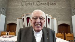 Ian Paisley, pictured after delivering his last sermon at Martyrs Memorial Free Presbyterian Church