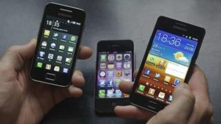 A selection of smart phones