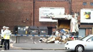 The scene at the Apollo Theatre on the A57 Hyde Road in Ardwick