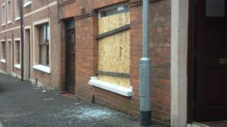 Windows were smashed at the house in Broom Street