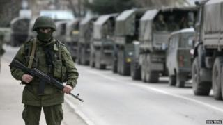 Russian military in Crimea, 1 Mar 14