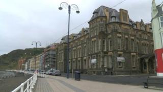 Former Ceredigion council offices in Marine Terrace, Aberystwyth