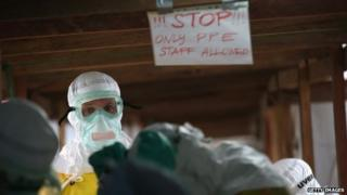 An MSF Ebola treatment centre on 21 August 2014 near Monrovia, Liberia.