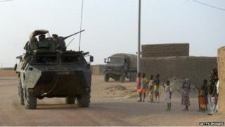 French troops in Mali in November 2013