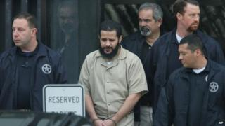 Mufid Elfgeeh is taken out of Federal Court in Rochester, New York 18 September 2014