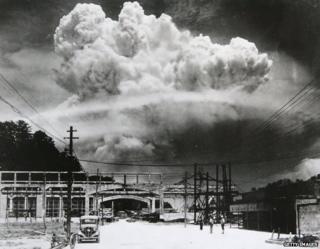 A cloud over the Nagasaki