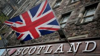 union flag on scotland shop