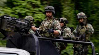 Mexican army, 3 July 2014