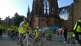 Cyclists in Coventry