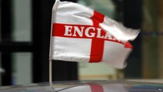 Flag of St George on a car