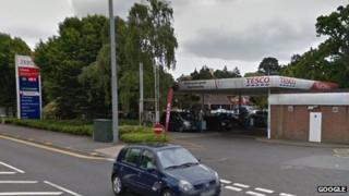 Tesco Branksome filling station