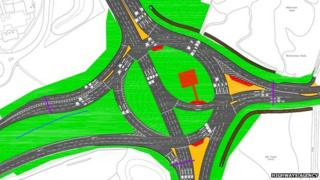 Black Dam roundabout plans