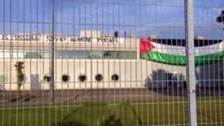 Pro-Palestinian activists at Thales