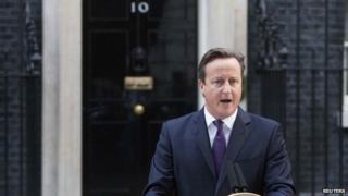 David Cameron outside Downing Street