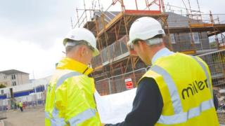 Miller Homes staff on construction site