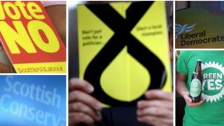 Scottish party logos and slogans