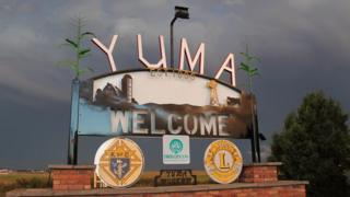 Welcome to Yuma sign
