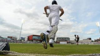 Test Match at Old Trafford Cricket Ground