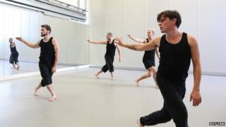 Deaf Men Dancing rehearsal