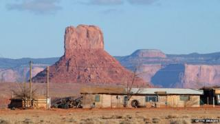 File photo: A house on the Navajo Indian Reservation, Arizona, United States, 5 December 2002