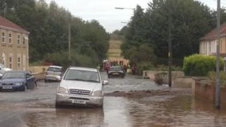 Flooded road in Kingswood