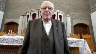 Ian Paisley pictured after delivering his final sermon in 2011