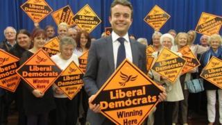 Josh Mason and the Redcar Liberal Democrats at his selection