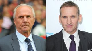 Sven-Goran Eriksson and Christopher Eccleston