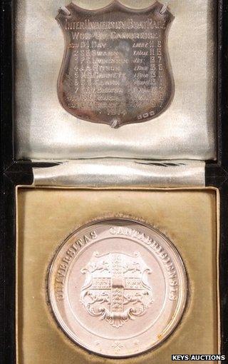 Cambridge University boat race medal