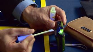 Smart Water being applied to personal possessions