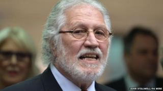 Dave Lee Travis outside Southwark Crown Court on Friday after being given a suspended sentence