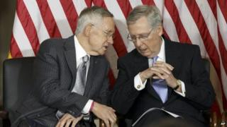 Harry Reid and Mitch McConnell (10 September 2014)