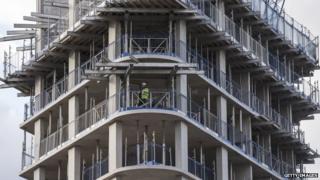 High rise block being built