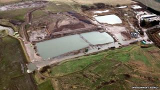 Landfill site at Slippery Gowt