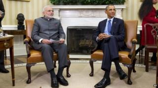 President Barack Obama meets with Indian Prime Minister Narendra Modi, 30 September 2014