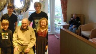 James Stewart and his grandchildren