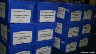 Ballot boxes in Dingwall