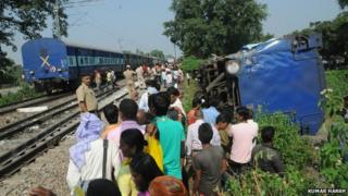 Train crash on 1st October 2014 in Uttar Pradesh