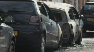 Cars destroyed in arson attack