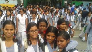 Girls in New Delhi, India