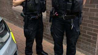 Armed police officers