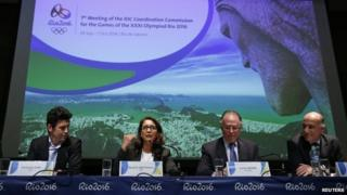 International Olympics Committee visit to Rio 1 October 2014