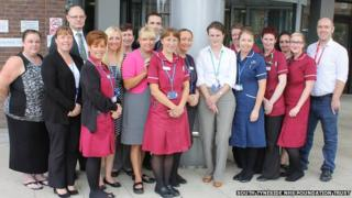 Cancer services team at South Tyneside hospital