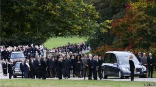 Dowager Duchess funeral cortege at Chatsworth