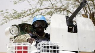 A UN soldier in Mali pictured in July 2013