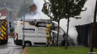 Van arson north Belfast